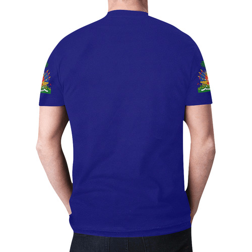 Haiti Men's Classic Flag Tee 2.0 (Blue) New All Over Print T-shirt for Men (Model T45)