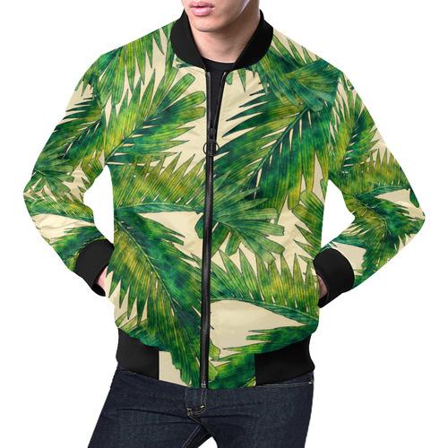 palms All Over Print Bomber Jacket for Men (Model H19)
