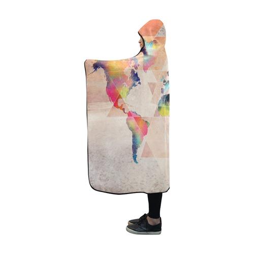 world map Hooded Blanket 60''x50''