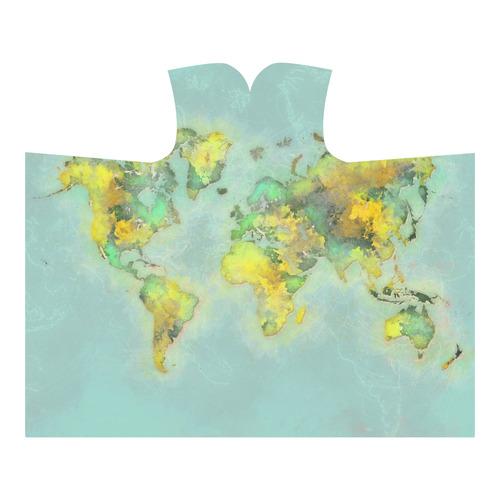 world map green #map #worldmap Hooded Blanket 60''x50''