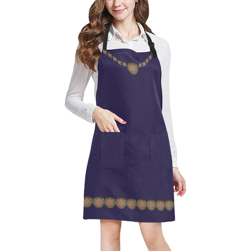 K107 Bronze / Golden Medallion Shield All Over Print Apron