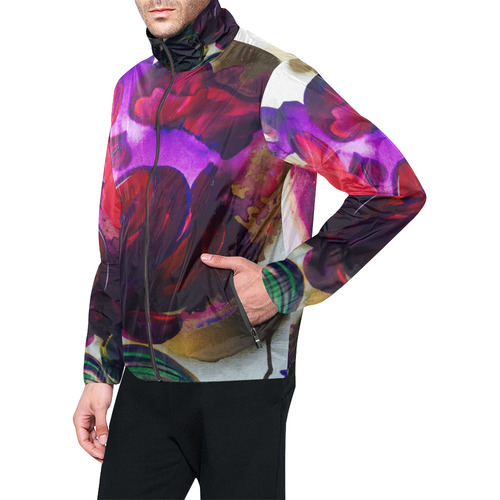 Purple poppies flowers all over print windbreaker for men model h23 purple poppies flowers all over print windbreaker for men model h23 mightylinksfo