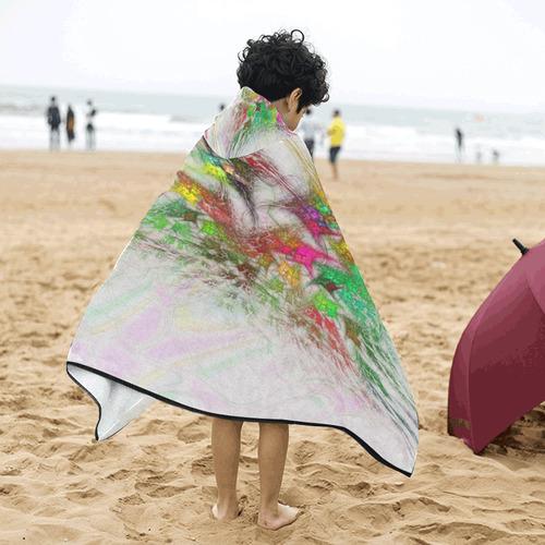 Flowering Graffiti Kids' Hooded Bath Towels