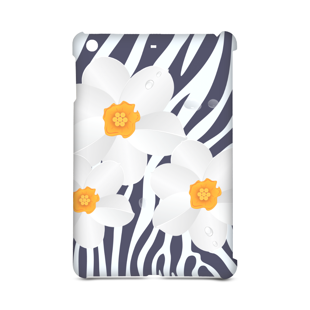 Zebra Pattern and White Flowers