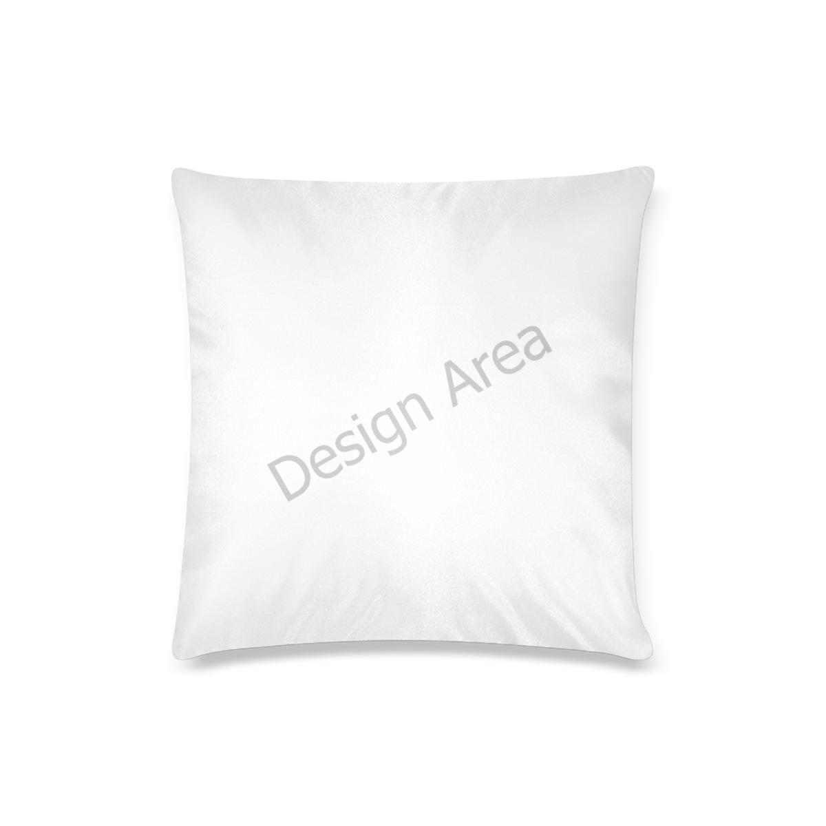"Custom Pillow Case 16""x16""  (One Side Printing) No Zipper"
