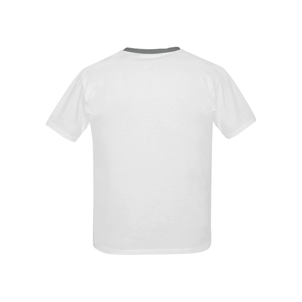 Kids' All Over Print T-Shirt with Solid Color Neck (Model T40)