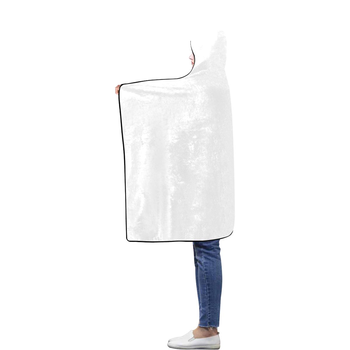 Flannel Hooded Blanket 40''x50''