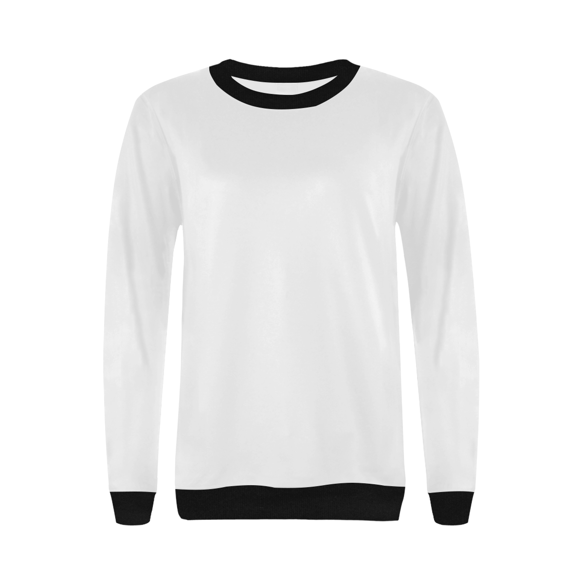 Women's Rib Cuff Crew Neck Sweatshirt (Model H34)