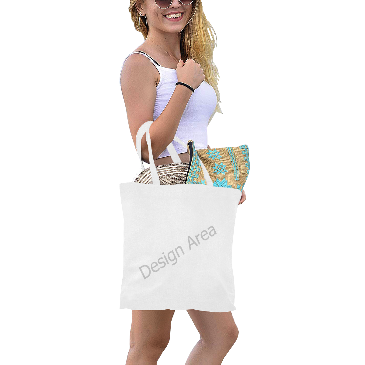 Canvas Tote Bag/Small (Model 1700)