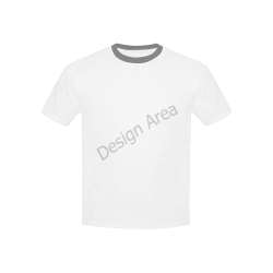Kids' Mesh Cloth T-Shirt with Solid Color Neck (Model T40)