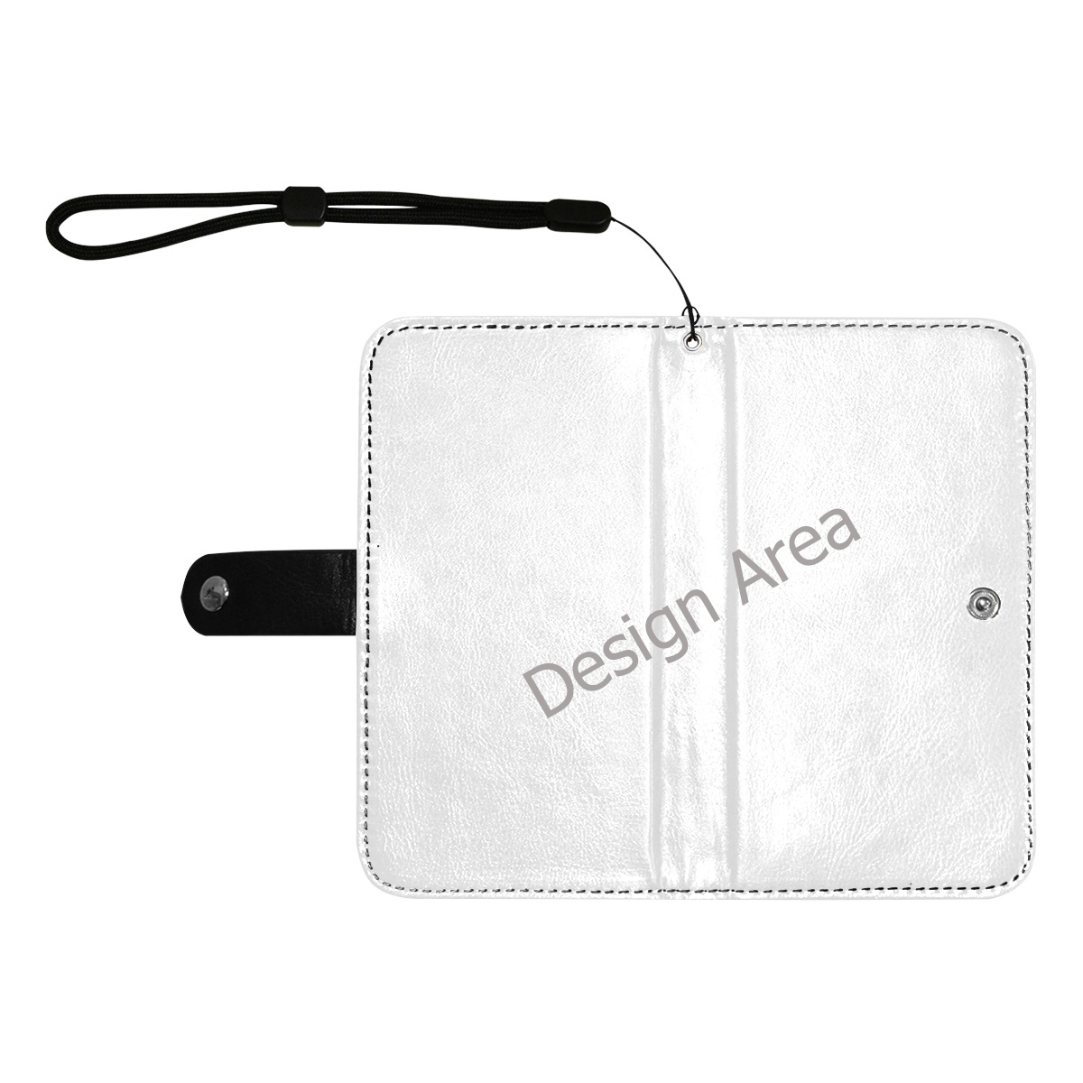 Flip Leather Purse for Mobile Phone/Large (Model 1703)