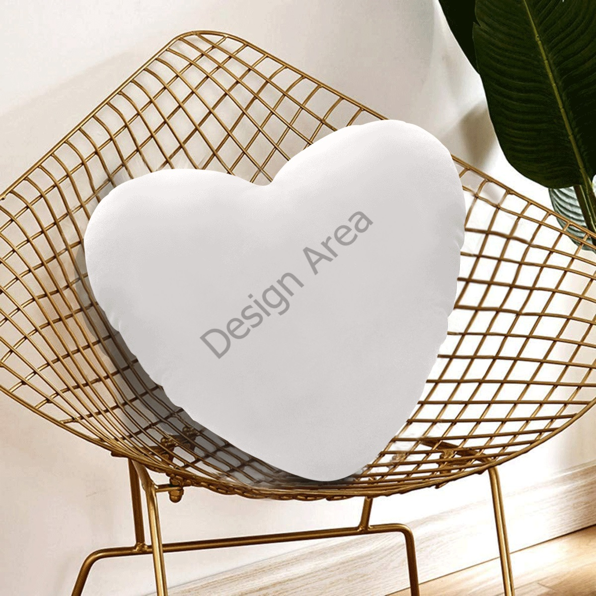 Heart-Shaped Pillow (One Side)
