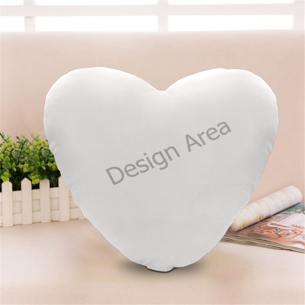 Heart-Shaped Pillow (Two Sides)