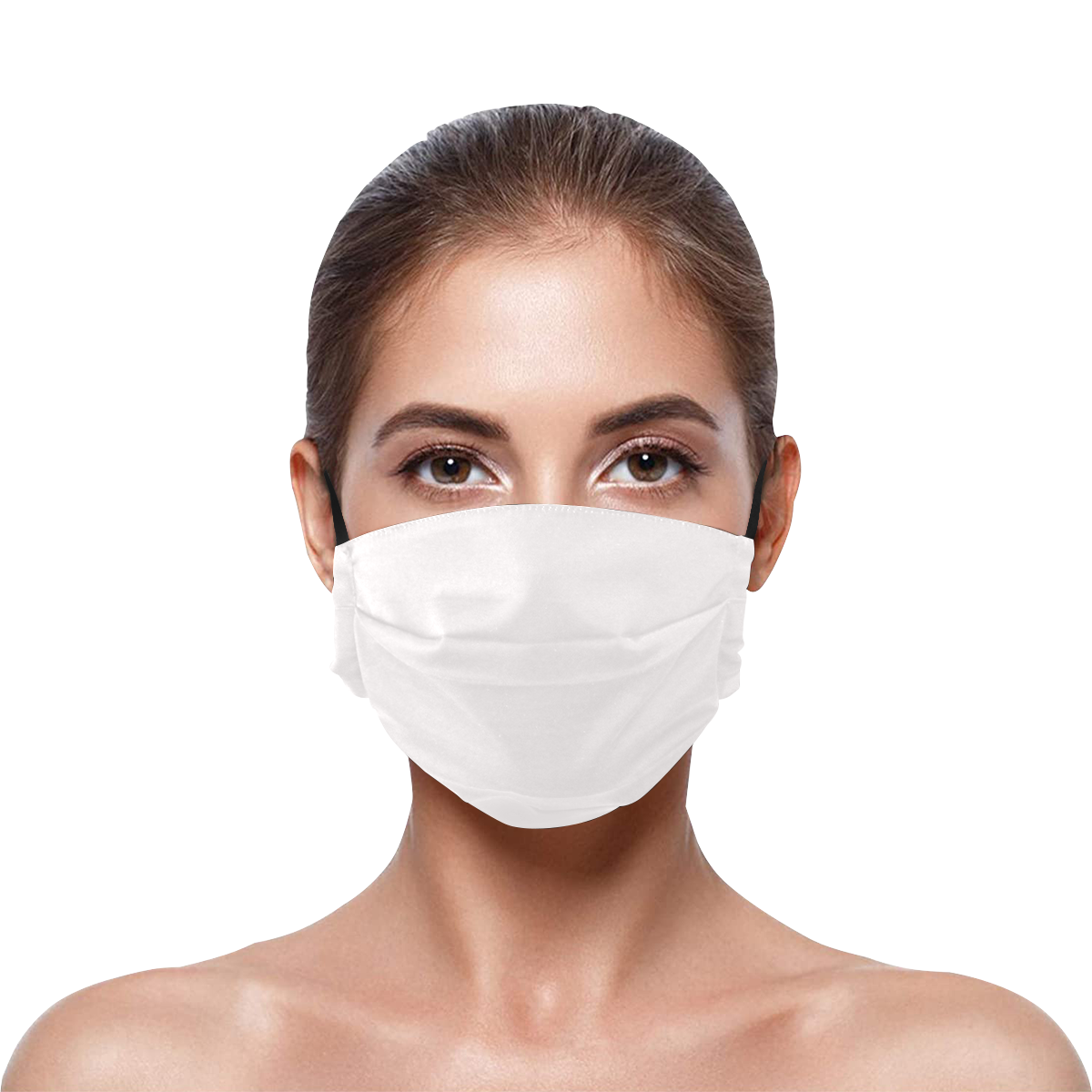 Pleated Mouth Mask with Drawstring (Model M06)