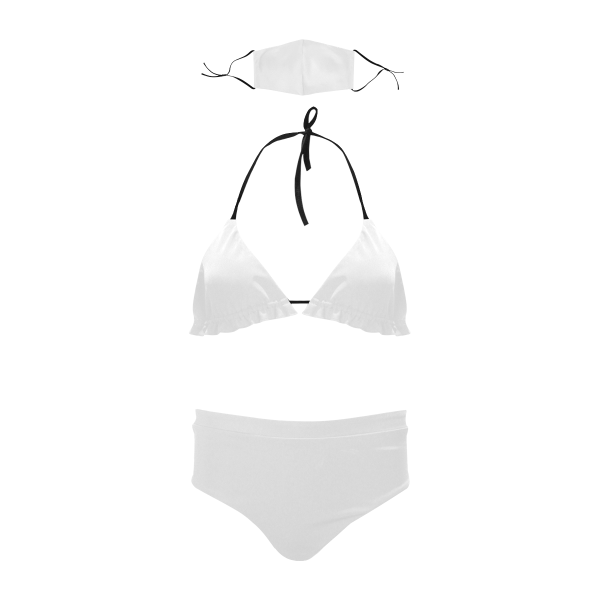Stringy Selvedge Bikini Set with Mouth Mask (S11)