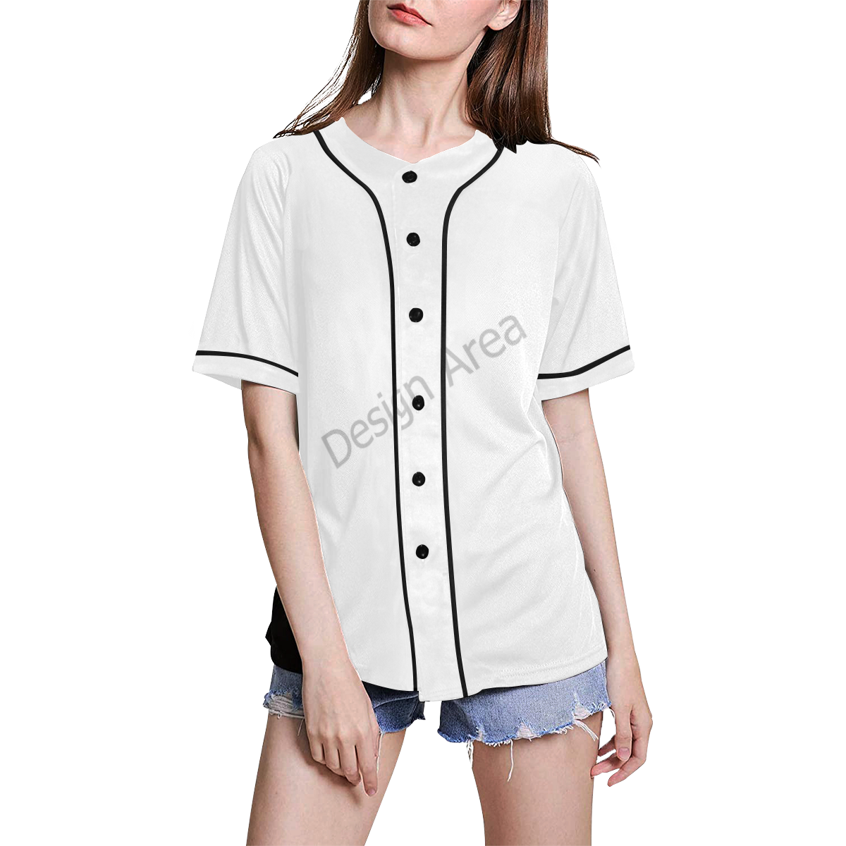 All Over Print Baseball Jersey for Women (Model T50)