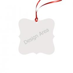 Square Lace Shape Ornament