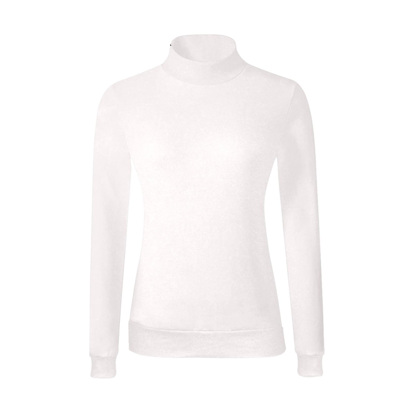 Women's All Over Print Mock Neck Sweater (Model H43)