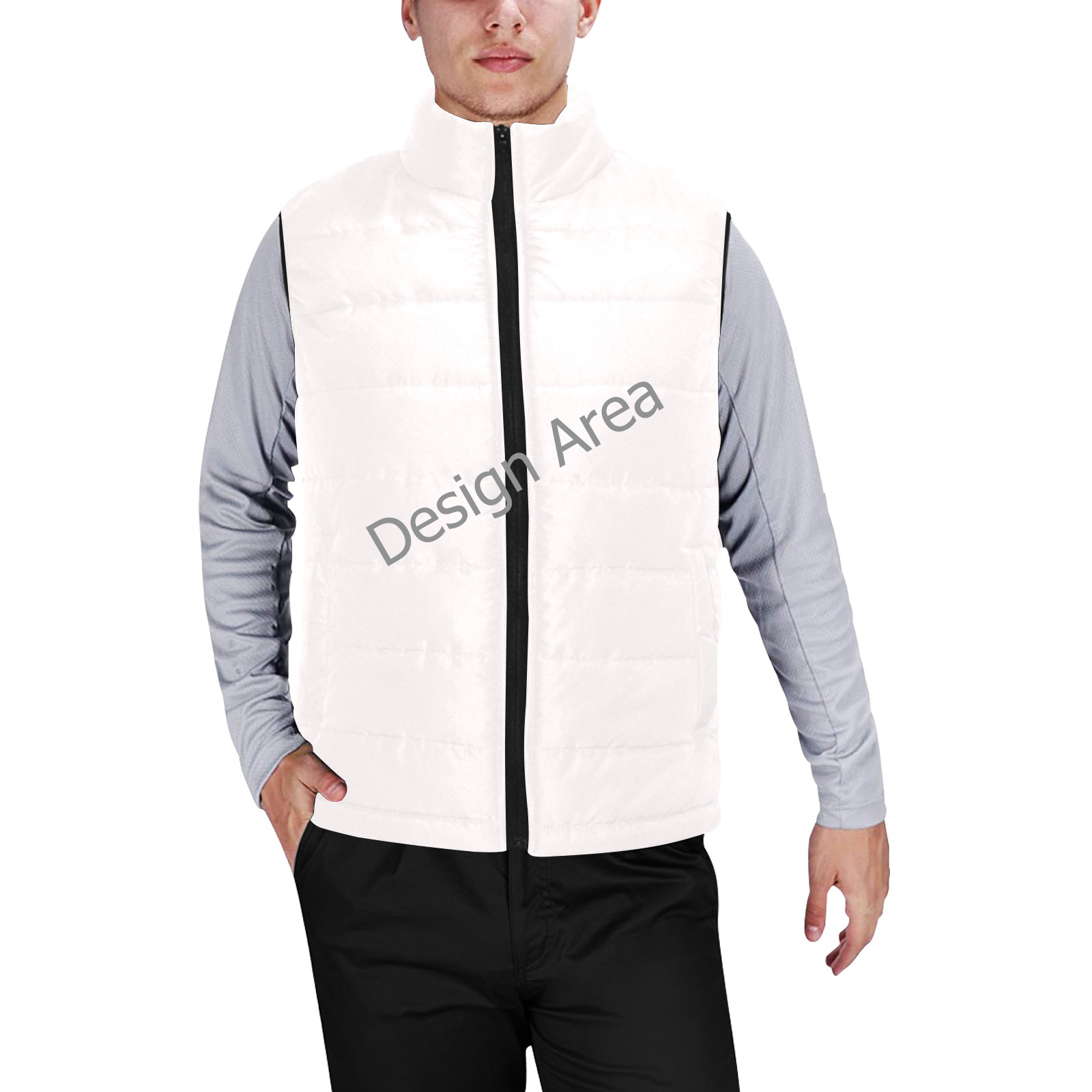 Men's Padded Vest Jacket (Model H44)