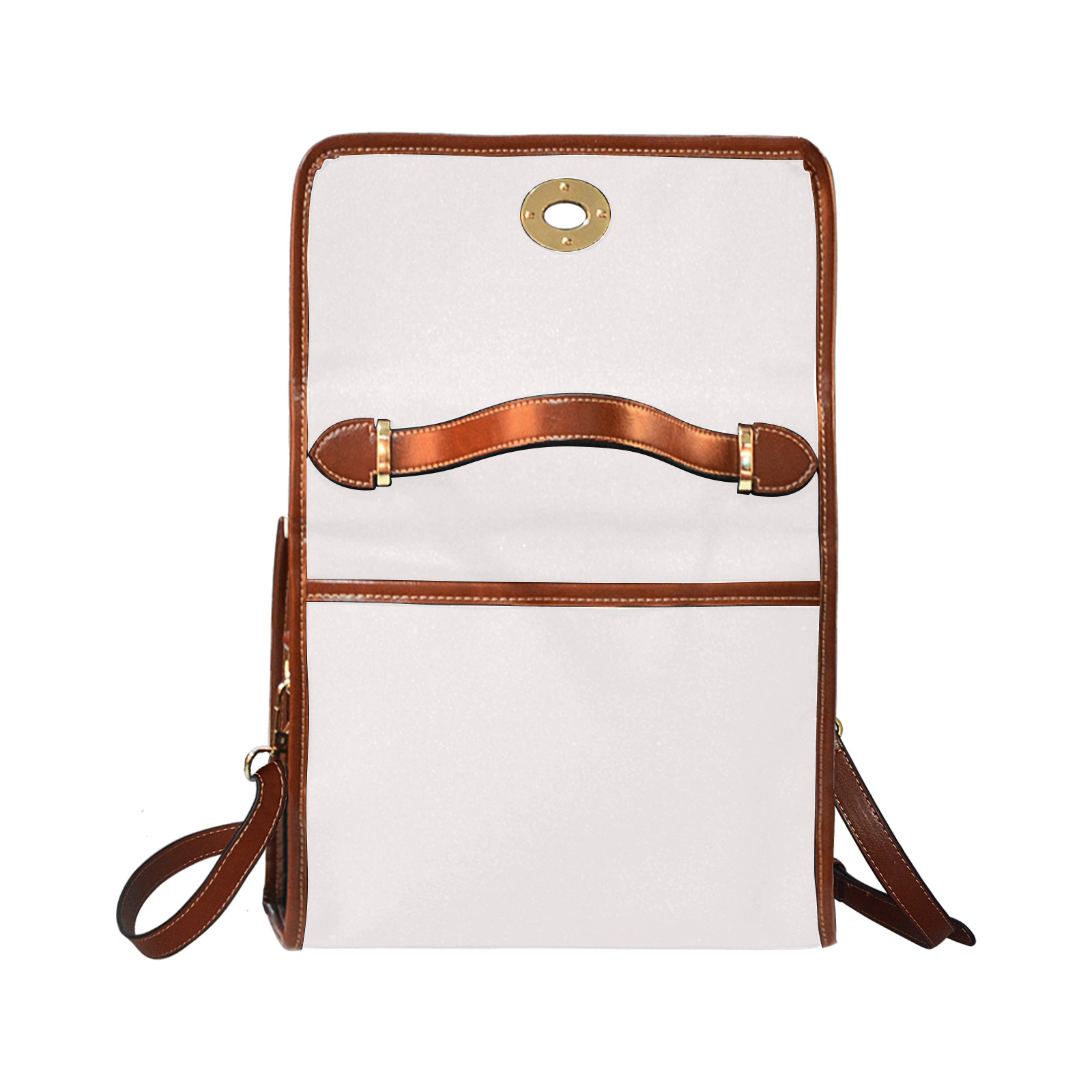 Waterproof Canvas Bag-Brown (All Over Print) (Model 1641)