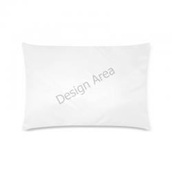 "Custom Rectangle Pillow Case 16""x24"" (one side)"