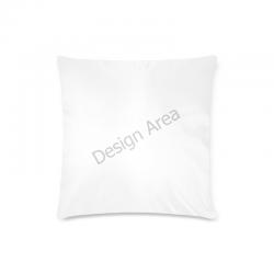 "Custom Zippered Pillow Case 16""x16""(Twin Sides)"