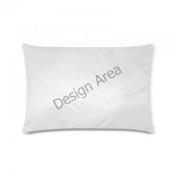 "Custom Zippered Pillow Case 16""x24""(Twin Sides)"