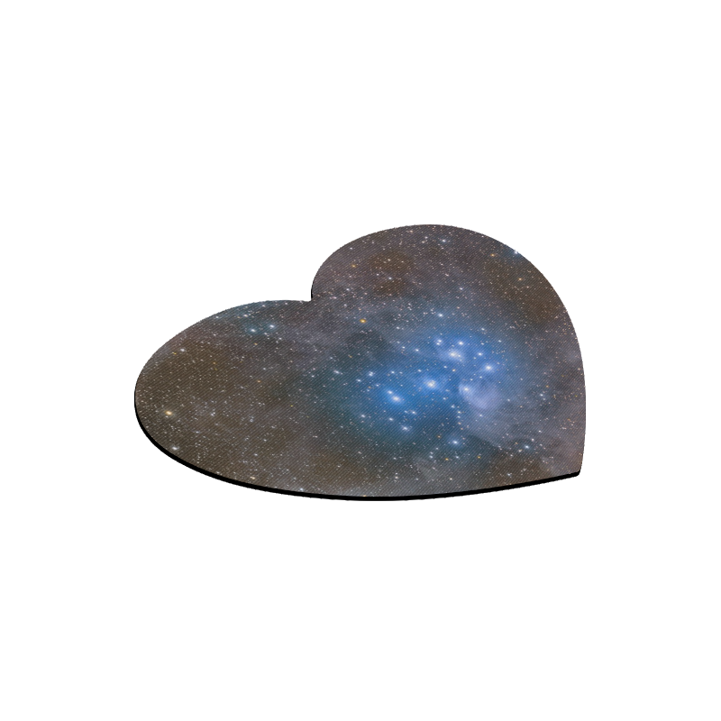 Space And Galaxy Heart-shaped Mousepad