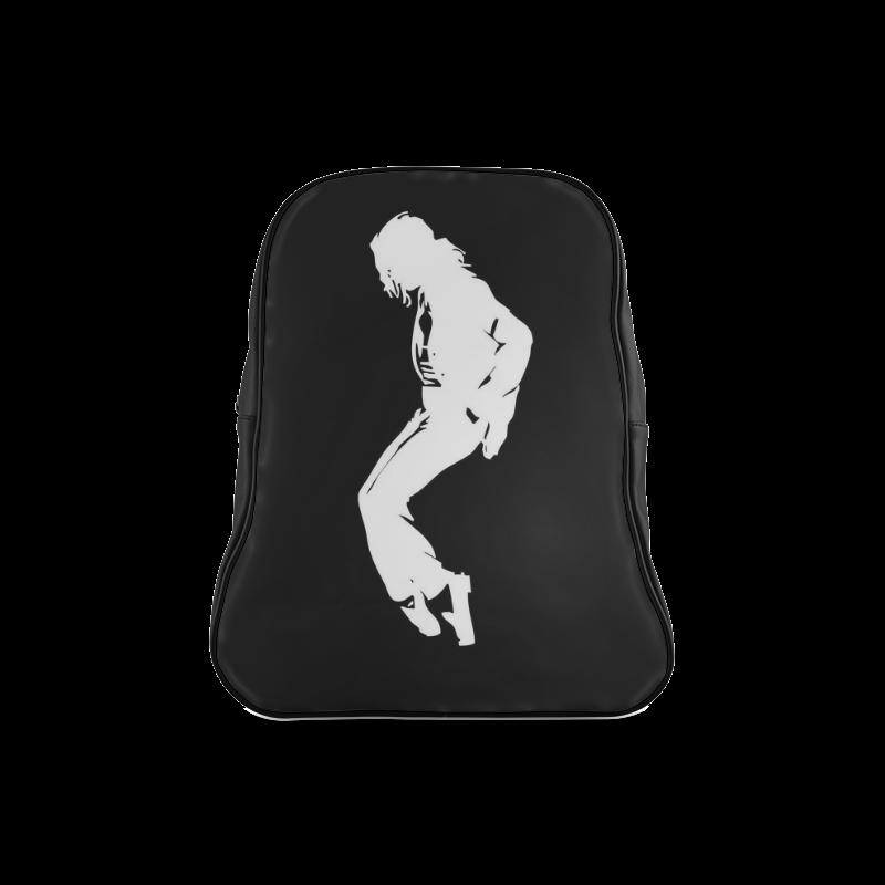 Super Star Michael Jackson Black And White School Backpack/Large (Model 1601)