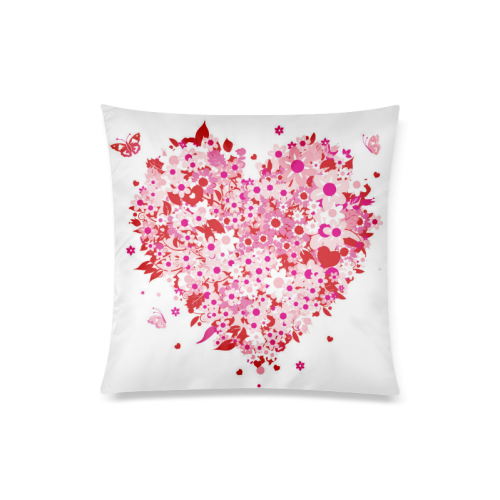 """clipart mothers day hearts Custom Zippered Pillow Case 20""""x20""""(Twin Sides)"""