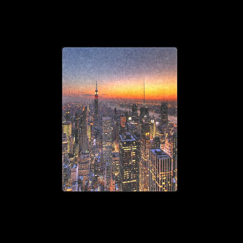 "New York City Night Blanket 40""x50"""