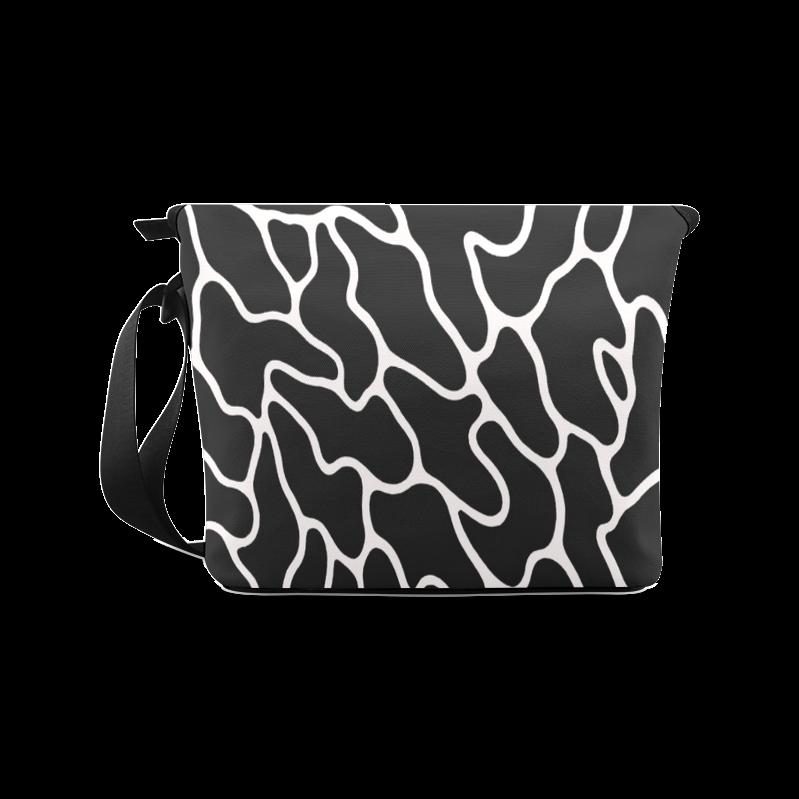 Black and White Leopard Patterns Stylish Design Crossbody Bag (Model 1631)