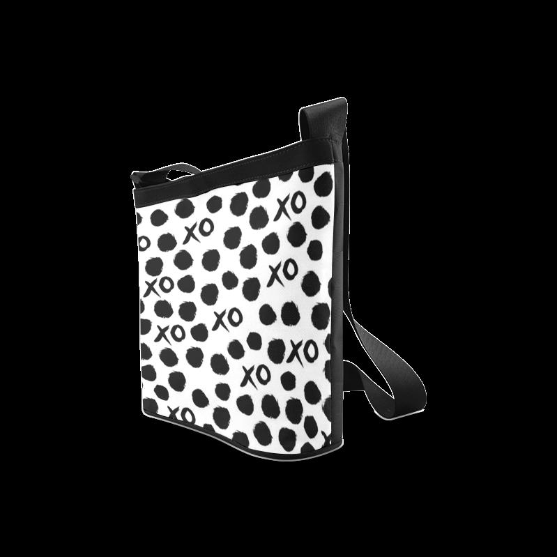 Custom Dot And XO Unique Design Stylish Crossbody Bags (Model 1613)