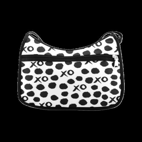 Custom Dot And XO Unique Design Stylish Crossbody Bags (Model 1616)