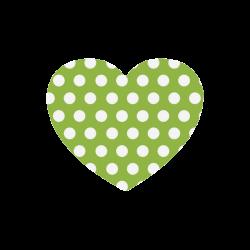 Cute dots regularly arranged Heart-shaped Mousepad