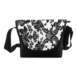 Monochrome Seamless Damask Pattern Custom Artsadd Crossbody Bag (Model 1631)