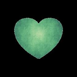 Retro aesthetic texture waves Heart-shaped Mousepad