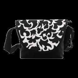 Seamless Floral Pattern Custom Black And White Crossbody Bag (Model 1631)