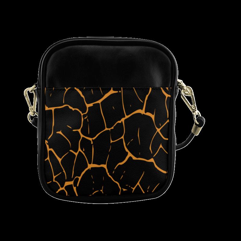 abstract animal skin Sling Bag (Model 1627)