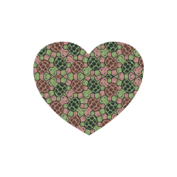 Abstract pattern turtle rules Heart-shaped Mousepad