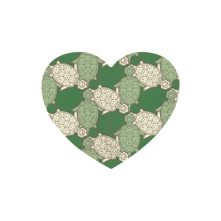 Turtle abstract pattern Heart-shaped Mousepad