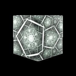 Retro geometric art graphics Men's Leather Wallet (Model 1612)