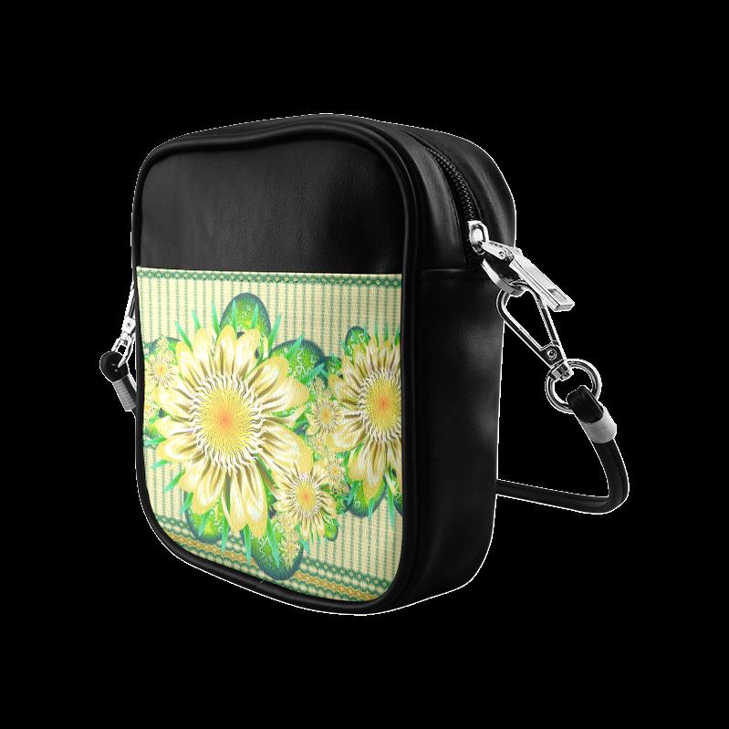 Realism beautiful flower pattern Sling Bag (Model 1627)