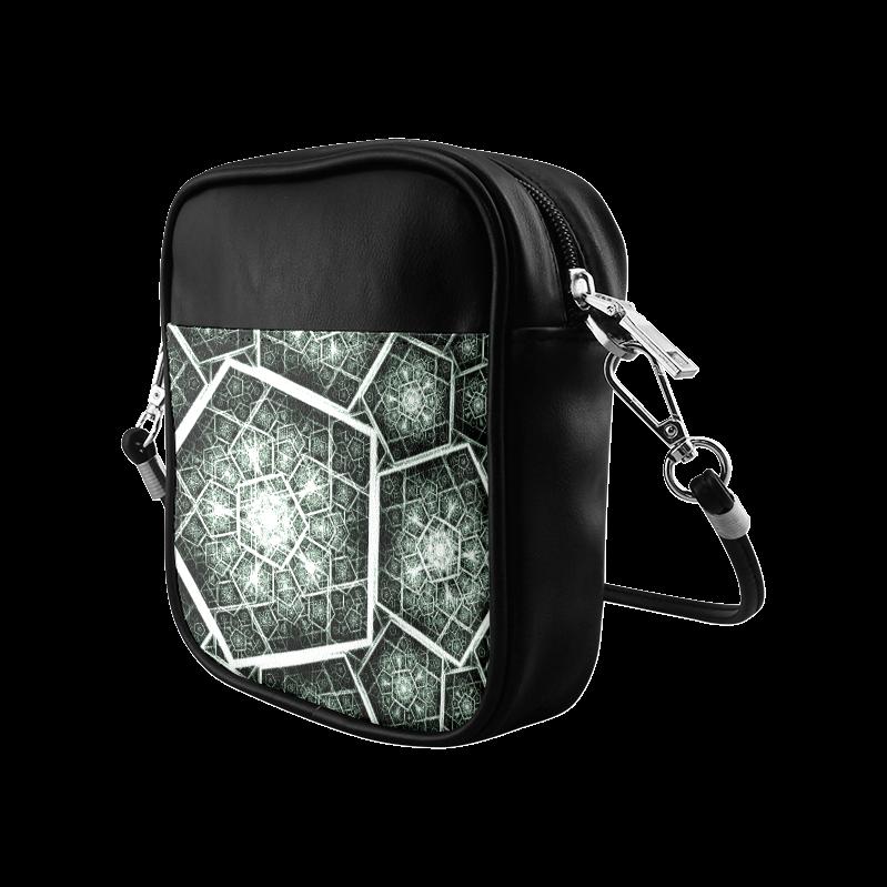 Retro geometric art graphics Sling Bag (Model 1627)