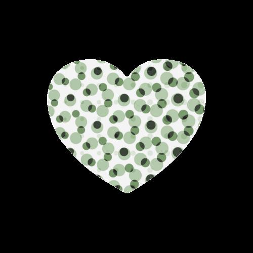 Green geometric circular pattern Heart-shaped Mousepad