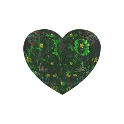 Abstract floral pattern Heart-shaped Mousepad