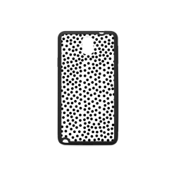 Black Polka Dot Design Rubber Case for Samsung Galaxy Note 3