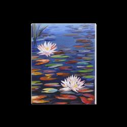 "Beauty of Lotus - Acrylic Painting Canvas Print 16""x20"""