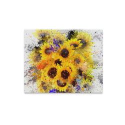 "Splashing Sunflower Painting Canvas Print 20""x16"""