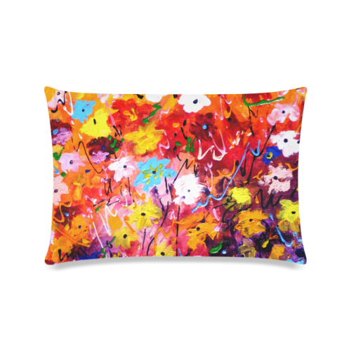 "Abstract Flower Design Custom Zippered Pillow Case 16""x24""(Twin Sides)"